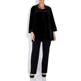 LUISA VIOLA VELVET OUTFIT IN BLACK - Plus Size Collection