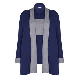 LUISA VIOLA TWINSET NAVY AND GREY - Plus Size Collection