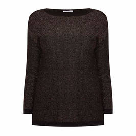 LUISA VIOLA COPPER LUREX SWEATER - Plus Size Collection