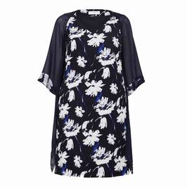 LUISA VIOLA DRESS AND DUSTER COAT NAVY - Plus Size Collection