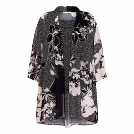 LUISA VIOLA PRINTED GEORGETTE DUSTER AND VEST - Plus Size Collection