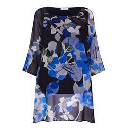 LUISA VIOLA GEORGETTE FLORAL TUNIC - Plus Size Collection