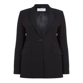 LUISA VIOLA SINGLE-BREASTED BLACK BLAZER - Plus Size Collection