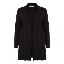 LUISA VIOLA PUNTO MILANO LONG JACKET BLACK - Plus Size Collection