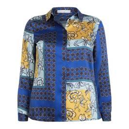 LUISA VIOLA SCARF PRINT SHIRT - Plus Size Collection