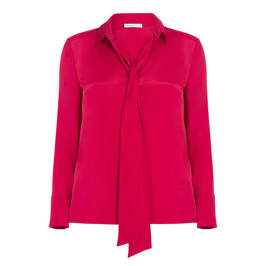 LUISA VIOLA FUCHSIA SILK BLEND SHIRT  - Plus Size Collection