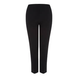 LUISA VIOLA CLASSIC BLACK ANKLE GRAZER TROUSER - Plus Size Collection