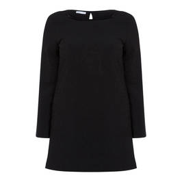 LUISA VIOLA BLACK SEQUIN SIDE STRIPE TUNIC - Plus Size Collection