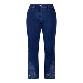 LUISA VIOLA EMBELLISHED HEM JEANS - Plus Size Collection