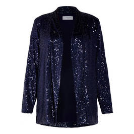 LUISA VIOLA SEQUIN JACKET NAVY - Plus Size Collection