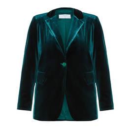 LUISA VIOLA VELVET JACKET GREEN  - Plus Size Collection