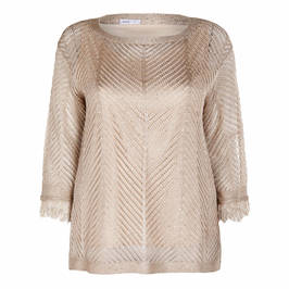 LUISA VIOLA CHEVRON KNIT TUNIC GOLD - Plus Size Collection