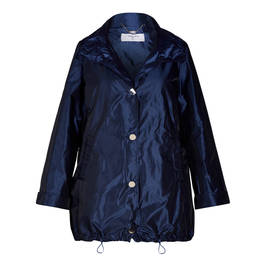 LUISA VIOLA SATIN SHEEN PARKA BLUE - Plus Size Collection