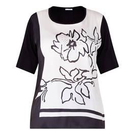 LUISA VIOLA SATIN FRONT T-SHIRT  - Plus Size Collection
