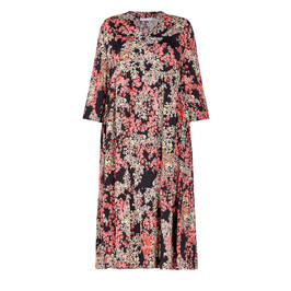 LUISA VIOLA FLORAL PRINT DRESS - Plus Size Collection