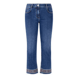 LUISA VIOLA EMBROIDERED HEM JEANS - Plus Size Collection