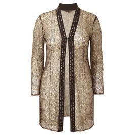 Murek Gold Lace Jacket - Plus Size Collection