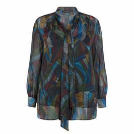 MARINA RINALDI PRINTED CHIFFON SHIRT - Plus Size Collection