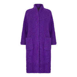 MARINA RINALDI BOUCLE JERSEY COAT PURPLE - Plus Size Collection