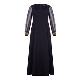 MARINA RINALDI GOWN WITH GOLD CUFF BLACK - Plus Size Collection