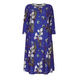 MARINA RINALDI FLORAL PRINT CADY DRESS - Plus Size Collection