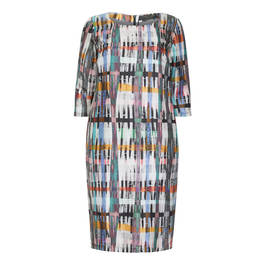 MARINA RINALDI PRINTED SILK DRESS - Plus Size Collection