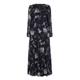 MARINA RINALDI PRINTED GOWN WITH JEWEL EMBELLISHMENT - Plus Size Collection