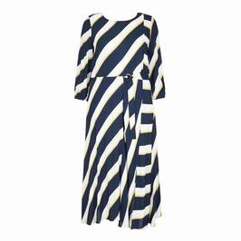 MARINA RINALDI DIAGONAL STRIPE DRESS - Plus Size Collection