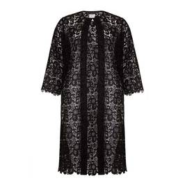 MARINA RINALDI BLACK LACE COAT - Plus Size Collection