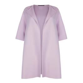 MARINA RINALDI WOOL CASHMERE BLEND COAT WISTERIA - Plus Size Collection