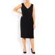 MARINA RINALDI V-NECK DRESS OPTIONAL SLEEVE BACK