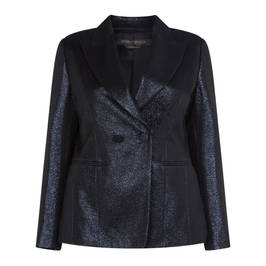 MARINA RINALDI NAVY SHIMMER BLAZER - Plus Size Collection