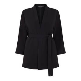 MARINA RINALDI KIMONO STYLE JACKET BLACK - Plus Size Collection