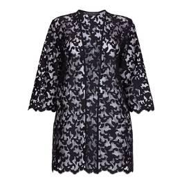 MARINA RINALDI  black lace long line JACKET - Plus Size Collection