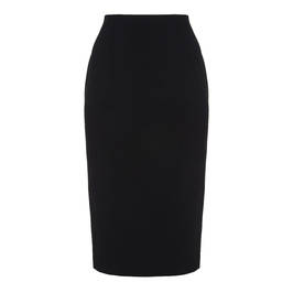 MARINA RINALDI BLACK PENCIL SKIRT WITH BACK SPLIT  - Plus Size Collection