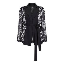 MARINA RINALDI SILK CHIFFON JACKET - Plus Size Collection