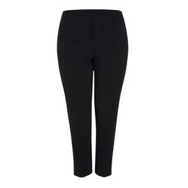 MARINA RINALDI TAPERED CIGARETTE TROUSERS BLACK - Plus Size Collection