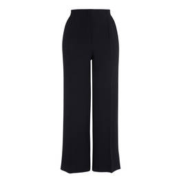 MARINA RINALDI BLACK PALAZZO TROUSER SATIN TRIM - Plus Size Collection
