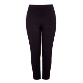 MARINA RINALDI BLACK STRAIGHT LEG TROUSER - Plus Size Collection