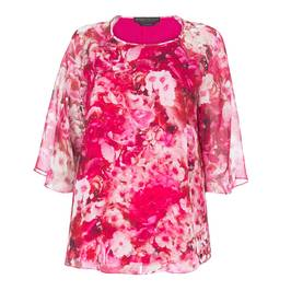 MARINA RINALDI FLORAL PRINT TUNIC - Plus Size Collection