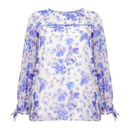 MARINA RINALDI SILK FLORAL TUNIC - Plus Size Collection