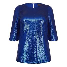 MARINA RINALDI SEQUIN TUNIC BLUETTE - Plus Size Collection