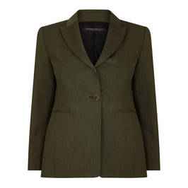 MARINA RINALDI WOOL BLEND JACKET OLIVE - Plus Size Collection