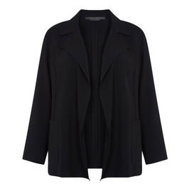 MARINA RINALDI BLACK TRIACETATE JACKET - Plus Size Collection