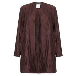 Marina Rinaldi Mahogany crushed linen silk JACKET - Plus Size Collection
