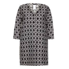 Marina Rinaldi monochrome satin jacquard duster coat - Plus Size Collection