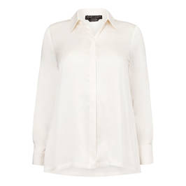 MARINA RINALDI 100% SILK SHIRT IVORY - Plus Size Collection