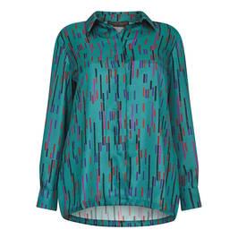 MARINA RINALDI TWILL SHIRT TEAL - Plus Size Collection
