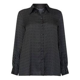 MARINA RINALDI SATIN CHAIN PRINT SHIRT - Plus Size Collection