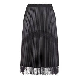 MARINA RINALDI PLEATED SKIRT WITH LACE HEM - Plus Size Collection
